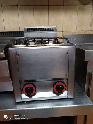 cocina gas dos hornillos para bar