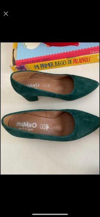 Zapatos verde-oliva