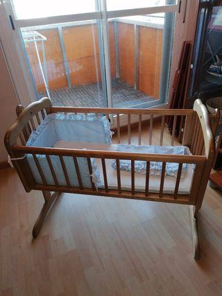 Mini cuna balancín madera Mothercare
