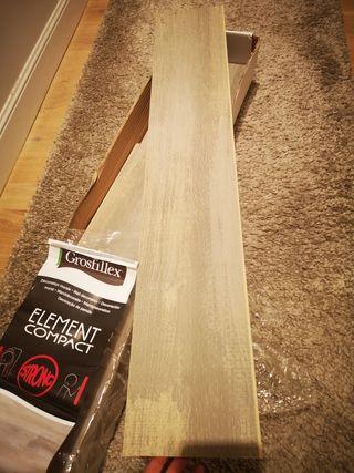 Revestimiento de pared de PVC. 7 tablones+ trozos
