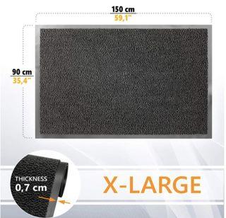 Felpudo de Entrada, Antracita Negra 90x150 GadHome