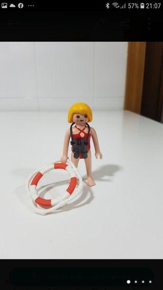 vigilante de la playa, socorrista playmobil