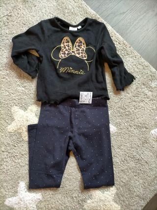Leggins Nuevo + camiseta Disney