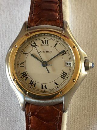 Cartier panthere cougar acero y oro