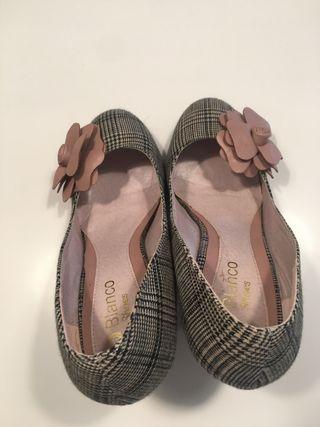 Zapatos de Blanco tacón alto