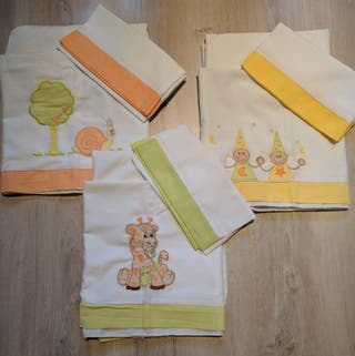 Lote de 3 conjuntos sabanas Mini cuna (40x80)