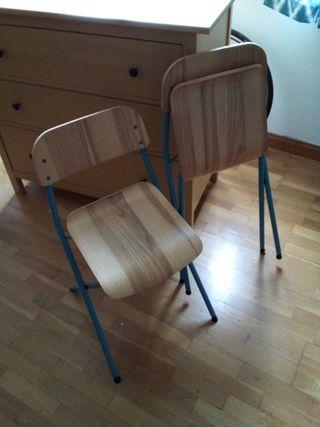 Dos sillas plegables IKEA VASSAD