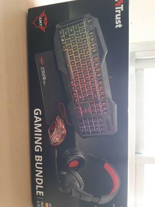 Set gaming, teclado, ratón, auriculares