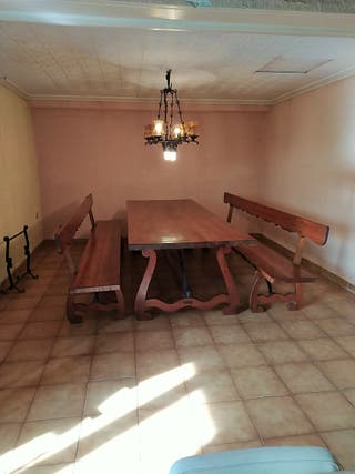 mesa y banco