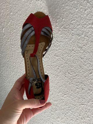 Zapatos de baile 38 tacón 10cm