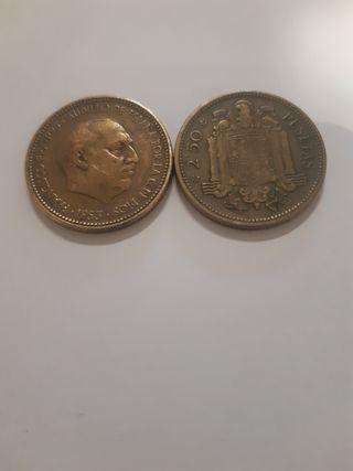 monedas 2,50 pesetas