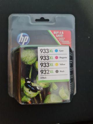 cartucho impresora HP 933XL Color y 932XL Negro