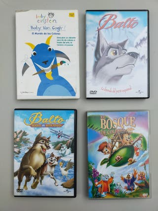 Pack 4 películas infantil en DVD