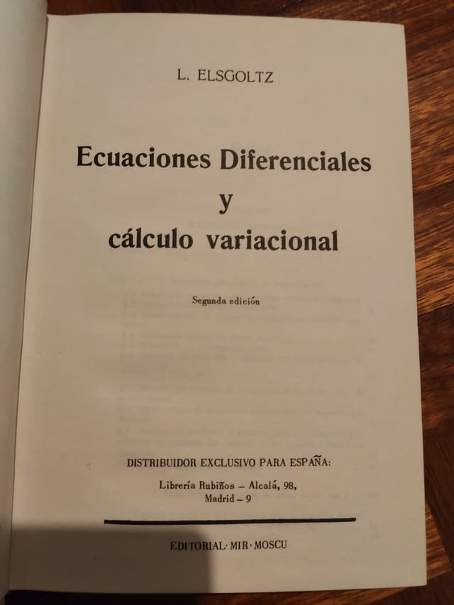 Ecuaciones diferenciales y cálculo variacional