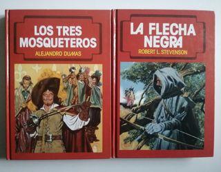 Dos libros de la colección novelas famosas