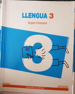 Libro Llengua 3 primaria Anaya Segundo Trimestre