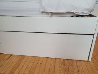 Estructura cama Brimnes Ikea con cajones 140x200