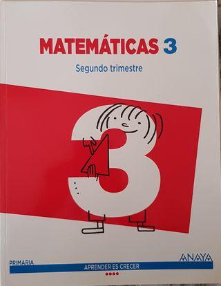 Libro Matemáticas 3 primaria Anaya Segundo Trimest
