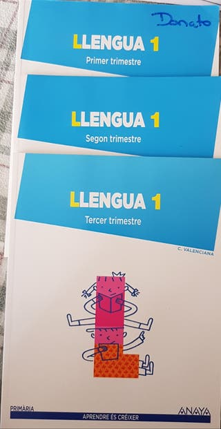 Libros Llengua 1 Primaria Anaya 1, 2 y 3 Trimestre