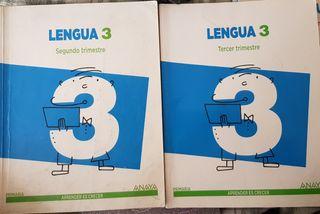 Libros de Lengua 3 primaria Anaya 2do/3r Trimestre