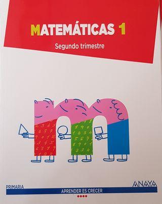 Libro Matemáticas 1 Primaria Anaya Segundo Trimest