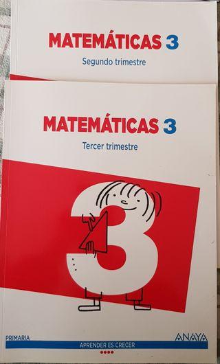 Libros Matemáticas 3 Primaria 2do/3er Trimestre