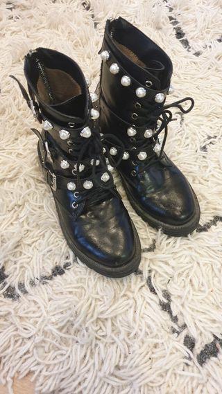botas militares perlas