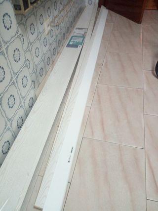 revestimiento pared mdf fresno blanco