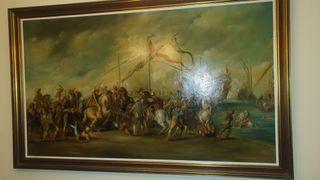 cuadro en lienzo moros y cristianos