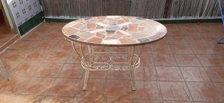 Mesa jardín piedra granito y marmol