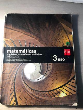 Libro de matemáticas, tercero de la ESO