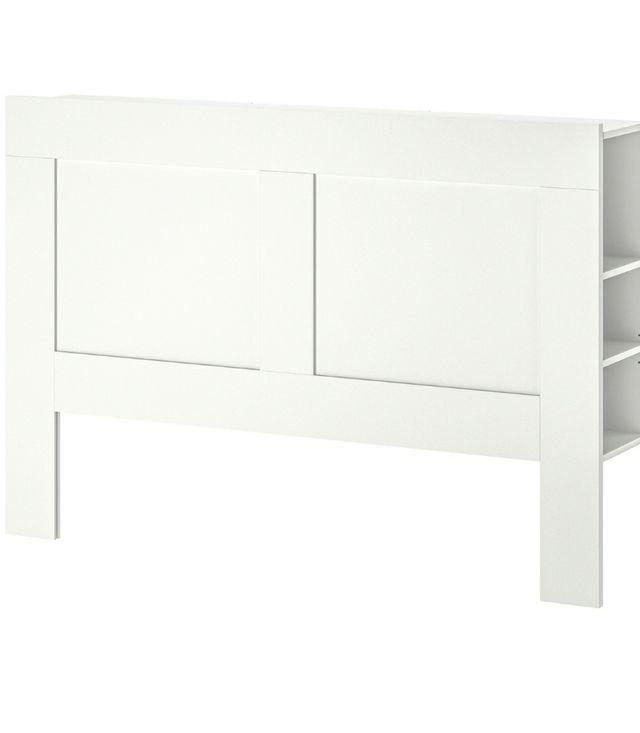 BRIMNES Cabecero con compartimento, blanco
