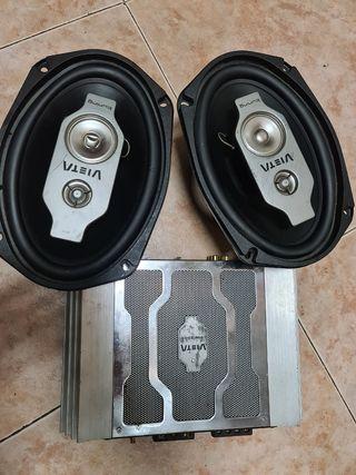 altavoces y amplificador VIETA