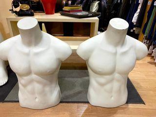 Lote maniquíes medio cuerpo hombre