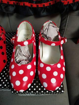 Zapatos Flamenco Baile Sevillanas