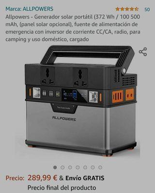 ALLPOWERS 372Wh Generador solar portatil