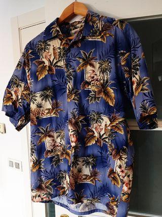 camisa manga corta hawaiana talla L