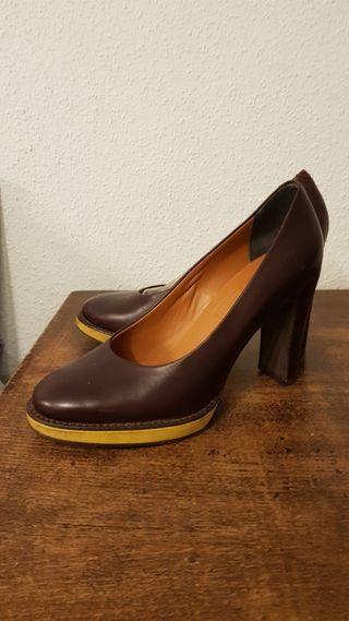 Zapatos marrones de tacón Camper talla 37