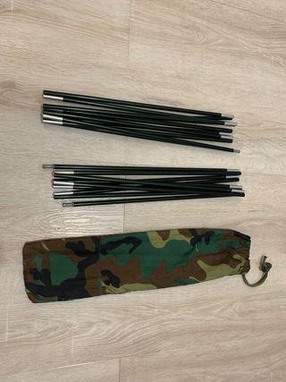 2 varillas flexibles para tienda campaña