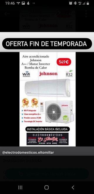 Aire acondivionado Johnson A ++
