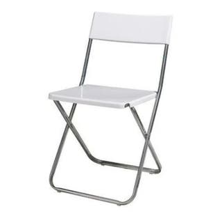 silla plegable jeff Ikea blanca