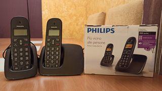 Duo teléfonos inalámbricos Philips