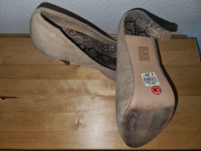 Zapatos tacón alto detalle tacón serpiente Blanco