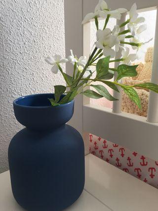 Jarrón cerámica azul Zara home