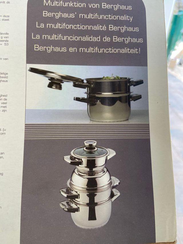 Juégo de ollas Profesional marca Berghaus