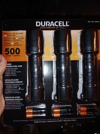 3 linternas led Duracell