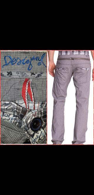 T 40 Desigual pantalón regular fit hombre