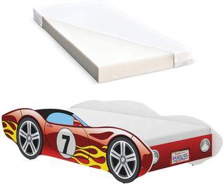 Cama infantil con diseño de coches