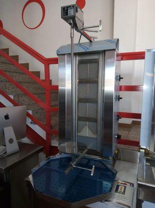 asador de kebad a gas y electrico