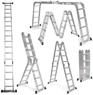 Escalera De Aluminio Plegable 475cm